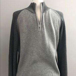 CALVIN KLEIN Men's L/S Quarter-Zip Cotton Sweater